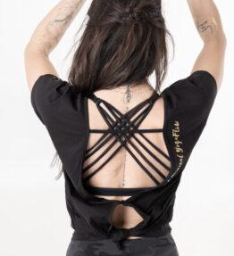 New Season! VACKRALIV YOGA T-shirt Oversize For a Magical YogaFlow, black