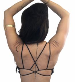 New Season! VACKRALIV YOGA Yoga&Lingerie BH TOP Beauty back, black