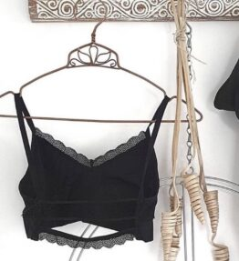 New Season! VACKRALIV YOGA Yoga&Lingerie BH TOP Comfy Lacework, black