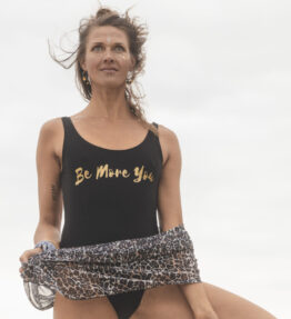 New! VACKRALIV YOGA Yoga&Swim Swimsuit BE MORE YOU gold/black