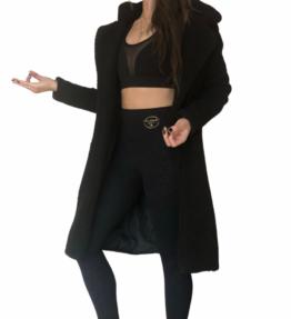New! VACKRALIV YOGA Dressy Teddy Coat Cosy, svart