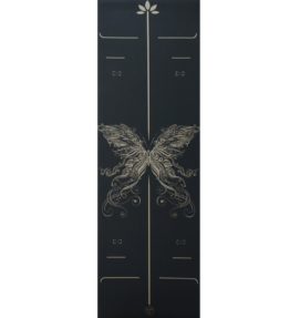 Back in Stock! VACKRALIV YOGA LUXURY ECO PU YOGAMATTA BUTTERFLY GOLD Waterproof, 183x61 cm, 4 mm & Yogaväska