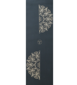 Back in Stock! New VACKRALIV YOGA ECO ALL-ROUND TPE YOGAMATTA CROCO GOLD FLOWER, 183x61 cm, 6 mm med Strap