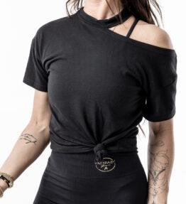 New Season! VACKRALIV YOGA Dressy Top Shoulder, svart