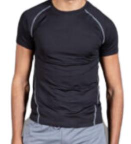 New Season! VACKRALIV YOGA&MEN Funktionell T-shirt Details, Black