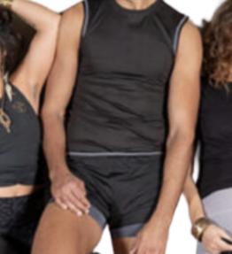 New! VACKRALIV YOGA&MEN DRY-FIT Shorter Shorts + innerbyxa, svart/grå
