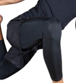 New! VACKRALIV YOGA&MEN DRY-FIT Basic Shorts + Leggings, black