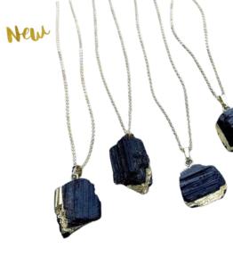 Back in Stock! VACKRALIV YOGA Dressy Turmaline Necklace, black/gold