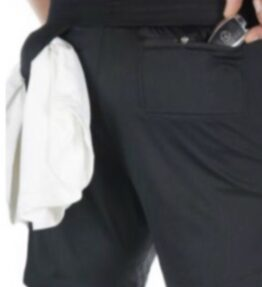 New! VACKRALIV YOGA&MEN DRY-FIT Shorts + innerbyxa, svart/white