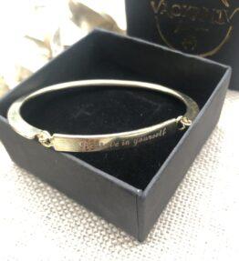 VACKRALIV YOGA Bracelet Believe in Yourself, gold