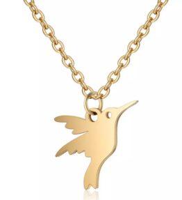 Summer Sale! VACKRALIV YOGA Dove Necklace, gold