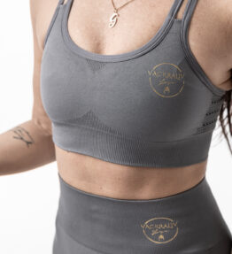 New Season! VACKRALIV YOGA PERFECT FIT SEAMLESS BH Lacework 2 straps, grey