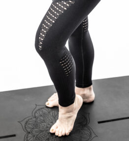 New Season! VACKRALIV YOGA PERFECT FIT SEAMLESS Leggings Lacework, black