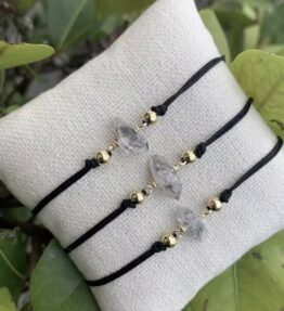 New! VACKRALIV YOGA Luxury Bracelet Purity Handmade Raw Herkimer Diamond