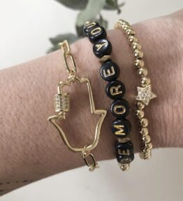 New! VACKRALIV YOGA Lovely Bracelet Kit 3 armband