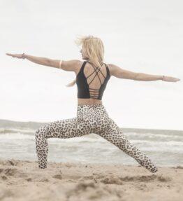 New Season! VACKRALIV YOGA DRY-FIT DRESSY LEGGINGS LEO, leopard/white