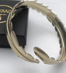 New Season! VACKRALIV YOGA Yoga Arm Bracelet Feather, gold