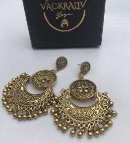 New Season! VACKRALIV YOGA Dressy Earrings Lotus, gold