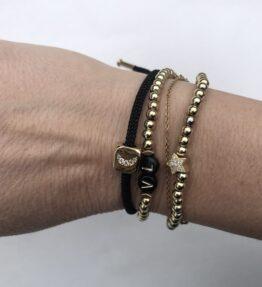 New Season! VACKRALIV YOGA MOON Bracelet Cubic Zircon, black/gold