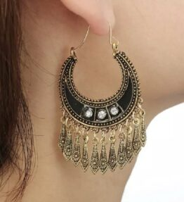 New Season! VACKRALIV YOGA Dressy Earrings Boho MOON, gold