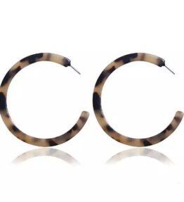 New Season! VACKRALIV YOGA Eco Leopard Earrings cellulose, Leo