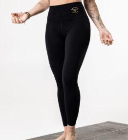 New Season! VACKRALIV YOGA DRY-FIT SKIN LEGGINGS BLACK BASIC, black