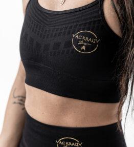 New Season! VACKRALIV YOGA PERFECT FIT SEAMLESS BH Pattern, black