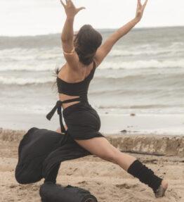 Back in Stock! VACKRALIV YOGA Dressy Dry-Fit Wide Yogapants, black