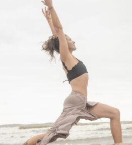 Summer Sale! VACKRALIV YOGA Dressy Dry-Fit Wide Yogapants, champagne