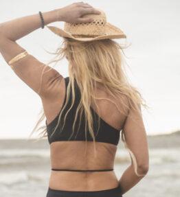 New Season! VACKRALIV YOGA Yoga&Swim Dressy Swimsuit one strap, black