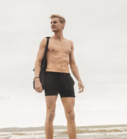 New Season! VACKRALIV YOGA&MEN Yoga&Swim Dry-Fit BadShorts, black
