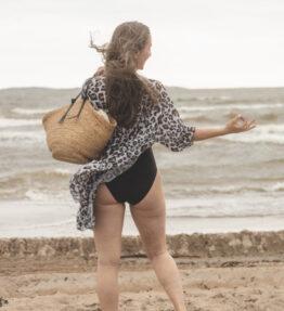 SALE! VACKRALIV YOGA Yoga&Swim KIMONO Short, leopard