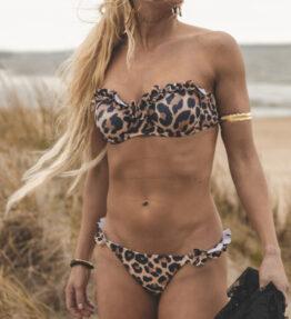 New Season! VACKRALIV YOGA SWIM&YOGA Bikini Flounce, leopard