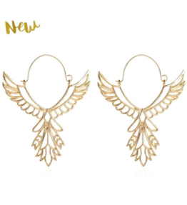 New! VACKRALIV YOGA Dressy HEALING ANGELS Earrings, gold