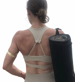 New Gold Soul! VACKRALIV YOGA DRY-FIT YOGA BH Ribbed, beige