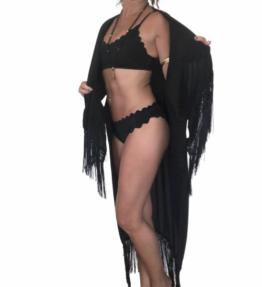 New Season! VACKRALIV YOGA Yoga&Swim Bikini Sporty Wawy, black