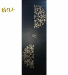 NEW! VACKRALIV YOGA ECO PU MANDALA GOLD YOGAMATTA 183 cm, 4 mm & YOGAVÄSKA
