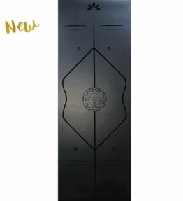 NEW! VACKRALIV YOGA ECO PU MAX SIZE GUIDELINES BLACK YOGAMATTA, 186X68 cm, 4 mm & Yogaväska
